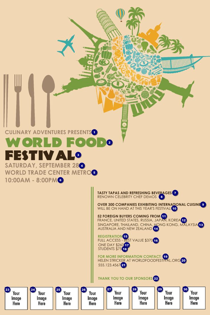Food Festival Poster | Ticket Printing