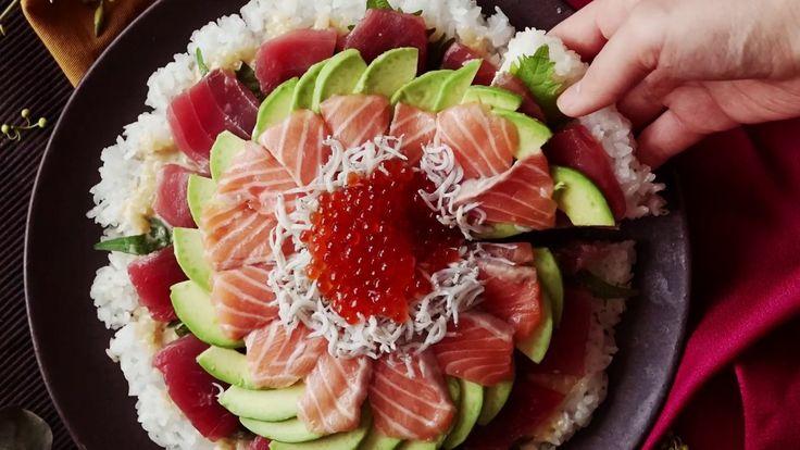 【チーズじゃなくていくらがとろーり】寿司ピザ🍣