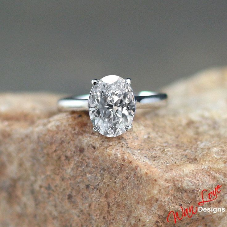 Popular Moissanite Solitaire Oval Engagement Ring ct xmm k k White Yellow Rose Gold Custom made