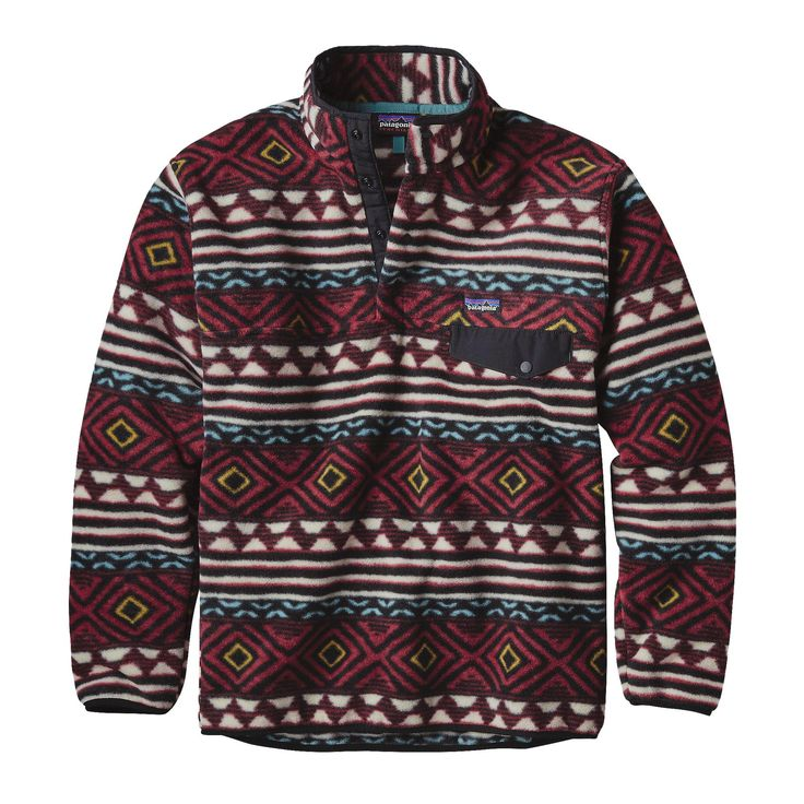 Ah, the good ol' Men's Synchilla® Snap-T® Pullover – a classic fleece pullover with thick, cozy double-faced fleece. Check it out at Patagonia.com.