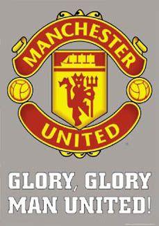 Manchester United GLORY GLORY Shield Logo Poster - Manchester United ~Available at www.sportsposterwarehouse.com