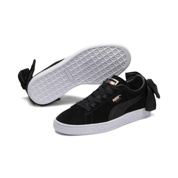 Image 1 of Suede Women's Bow Sneakers, Puma Black Puma Black