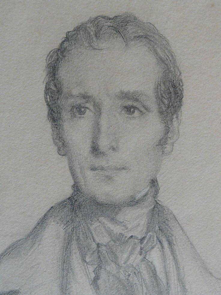 CHASSERIAU Théodore,1844 - Portrait de Lamartine - drawing - Détail 10