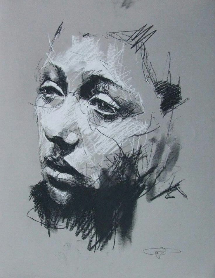 Guy Denning- 'Prepatory drawing from Behemoth series' (date unknown) This piece is another one of Guy Dennings work using charcoal and chalk but with this picture Denning has decided to use more thinner lines in order to create the basic outline and shape to the subjects face and the image seem more simplistic. He has also used a different technique when applying the charcoal by smudging the charcial around the subject's nexk and bottem of lip in orsr to represent the shadow and highlight…