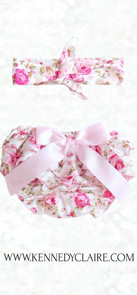 Floral Satin Bloomers Newborn Bloomers, Baby Bloomers, Floral Diaper Cover