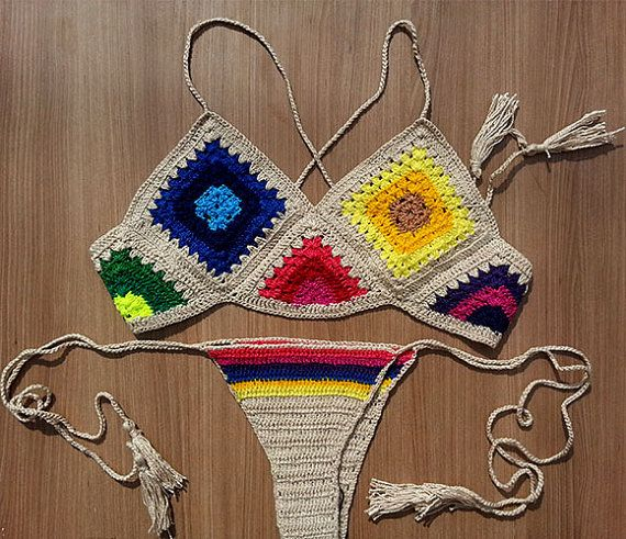Ganchillo de parte superior del Bikini brasileño por Shebelamoda