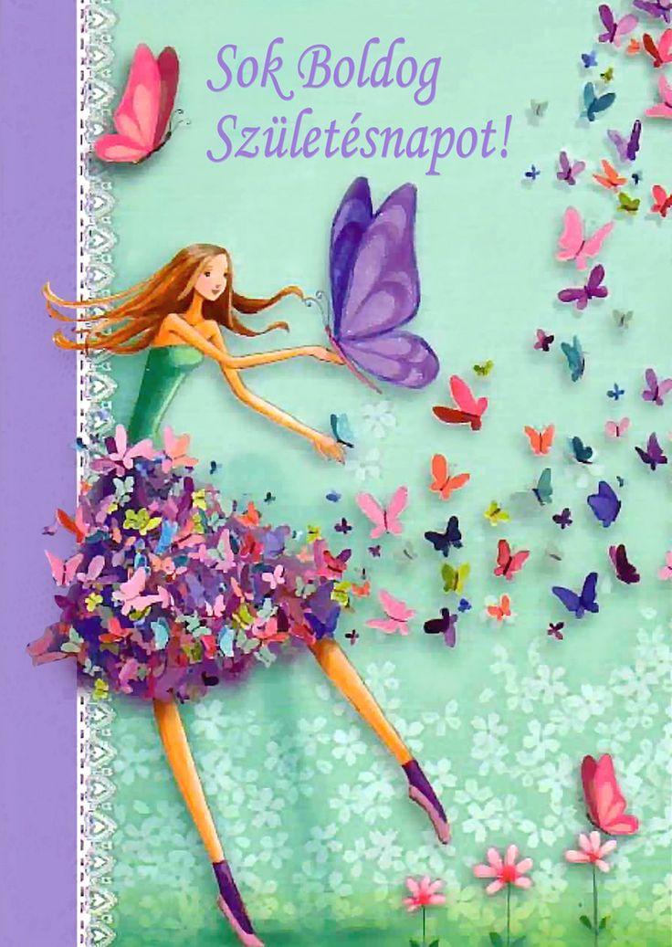 Alkalom / Születésnap - lányoknak - Feliz Cumpleaños Sobrina - magyar szöveggel: Sok Boldog Születésnapot!