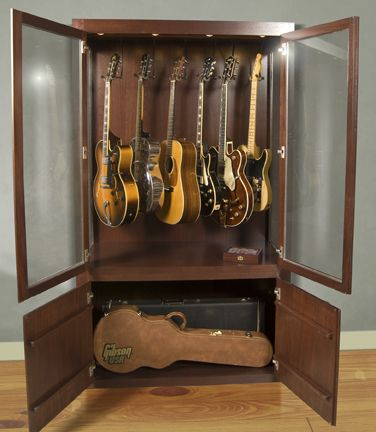 @Drew Thatguy  Check this out.  I think we could re-purpose a storage unit without too much work to make you a guitar display.  Thrift store shopping!!