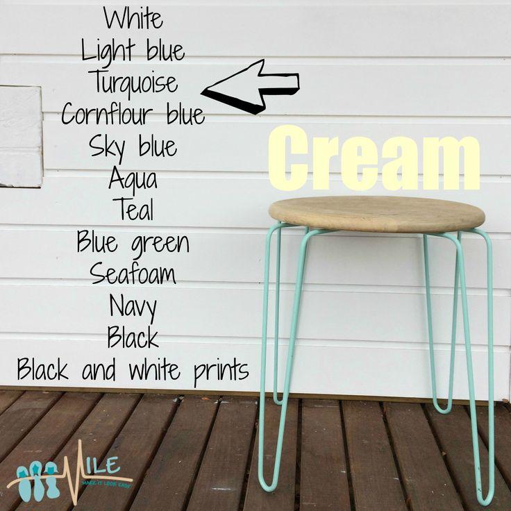 Cream goes with...