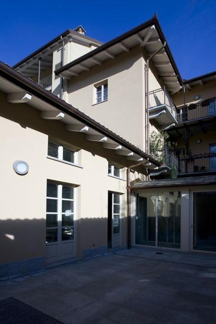 Palazzo Minerva. Vista interna del cortile privato. Canuto Costruzioni