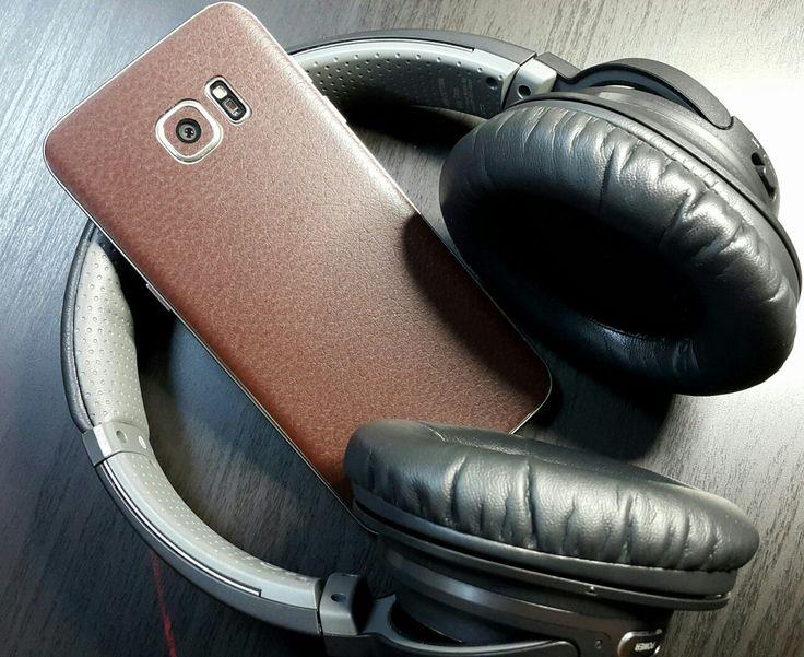 Folii Carbon 3M Leather Brown Samsung Galaxy S6 Edge Plus