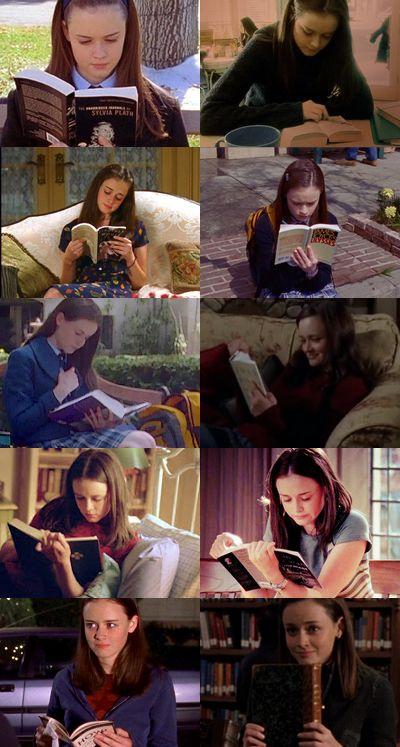 Rory Gilmore, me gusta mucho como es, su asion por leer, es responsable y inteligente. ella te muestra que no es necesario ser fea, freak, nerd para ser estudiosa y tener metas en la vida.
