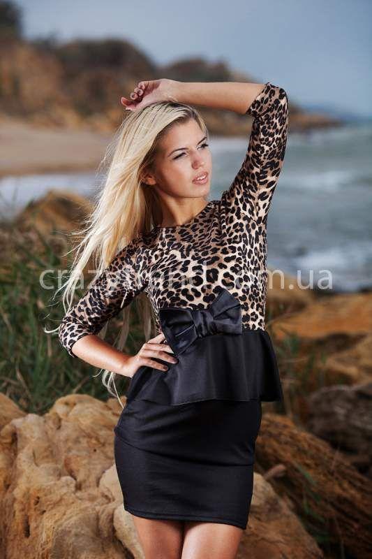 Платье в пол c принтом леопард Leo (Арт. L72)
