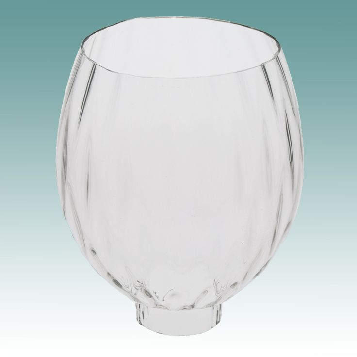 "#4497 S - Clear Optic Hurricane Shade 2"" x 6"" - Glass Lampshades"