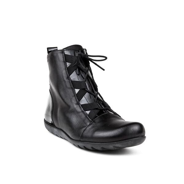 Wonders Lace up High Black Sneaker | ELLA Shoes Vancouver | Womens Leather Boots Shoes Online