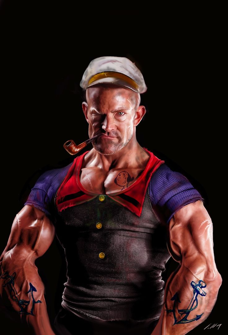 Popeye by Deviant Art artist axlsalles. Best movie ever...although Robin Williams did NOT look like this.