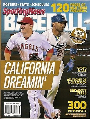 Sporting News,Baseball, Mike Trout, Matt Kemp,Rosters,Stats, Schedules, 2013~NEW