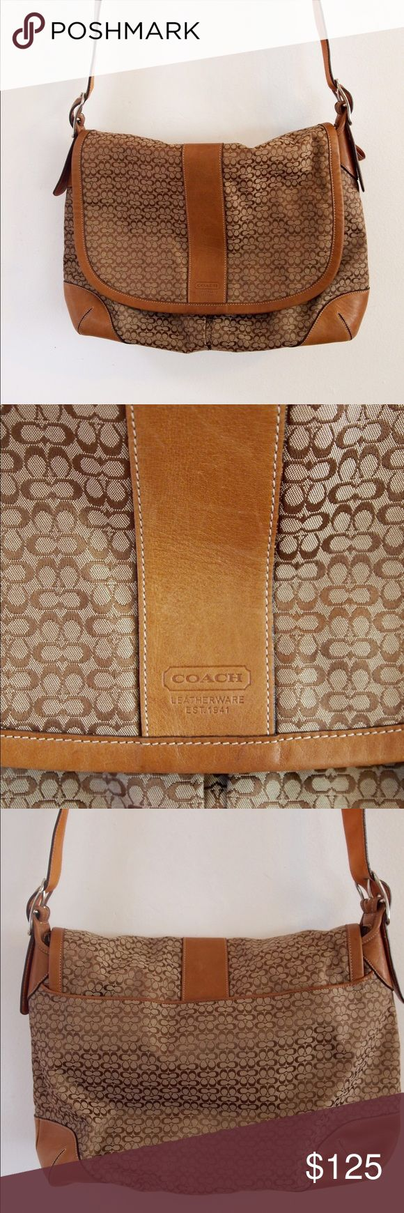 Coach Messenger Bag Limited Edition Coach Messenger Bag. Camel Color. Only used 3 times! In great condition! Can be used as a carry on. Just has a couple stains on the bottom of bag, so you don't really see it. And one small one on strap. Coach Bags Shoulder Bags