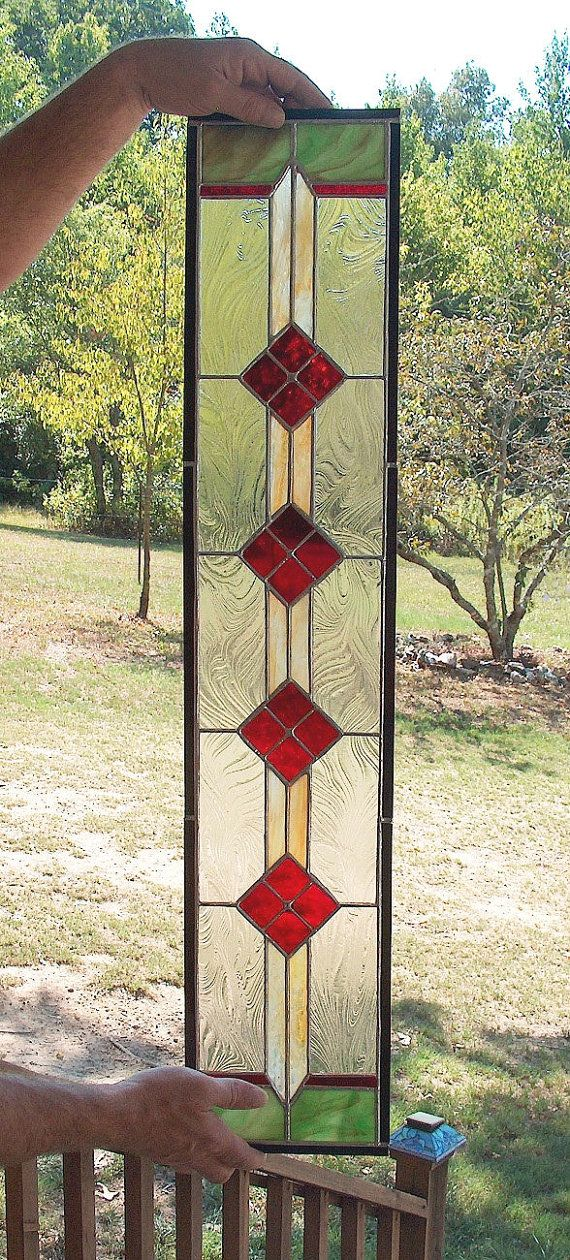 CUSTOM Sidelight Stained Glass Panel  Victorian by BeadedGlass, $148.00