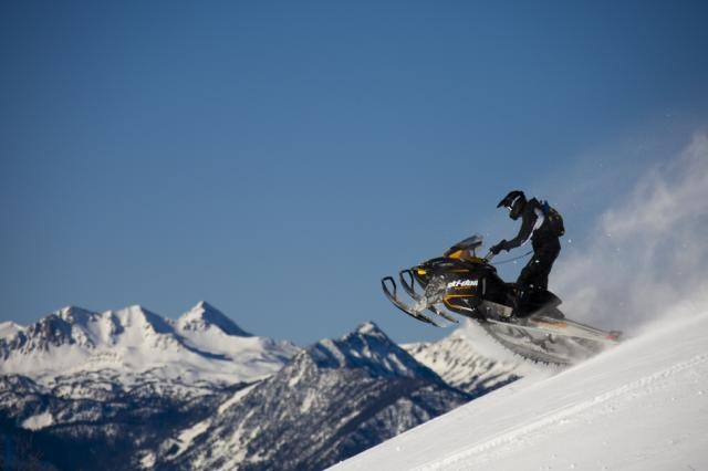 2013 Ski-Doo Summit Sport in action