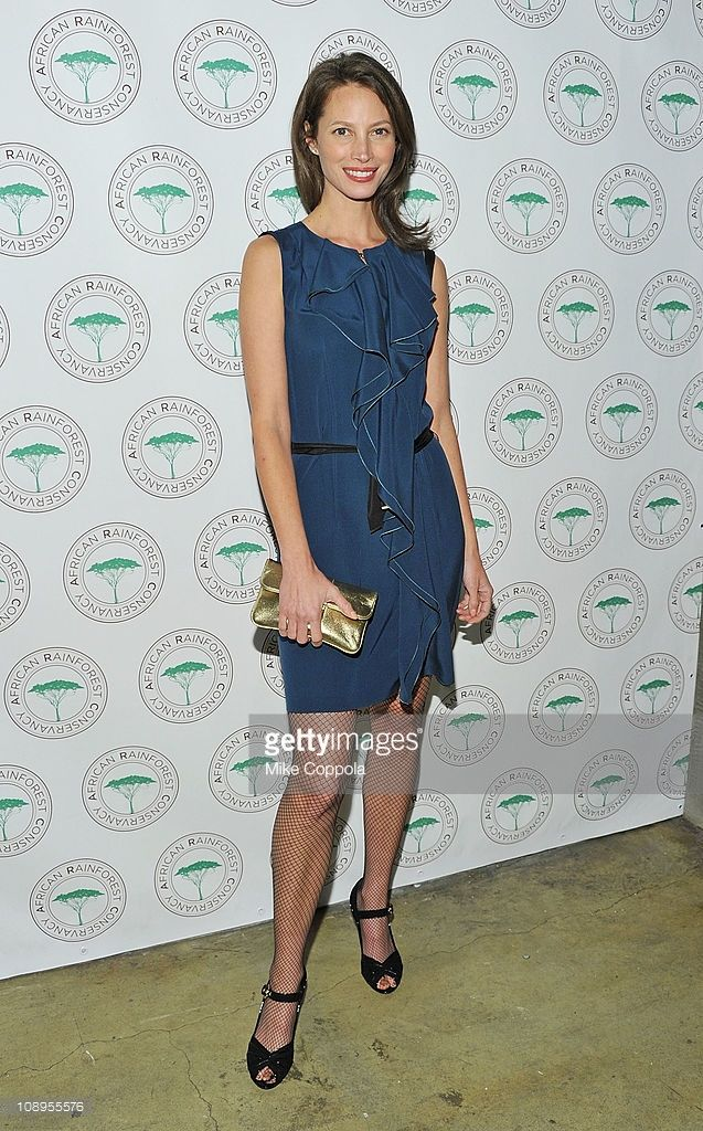 Model Christy Turlington Burns attends the African Rainforest Conservancy's 20th anniversary Artists for Africa Celebration at the Prince George Ballroom on February 9, 2011 in New York City.