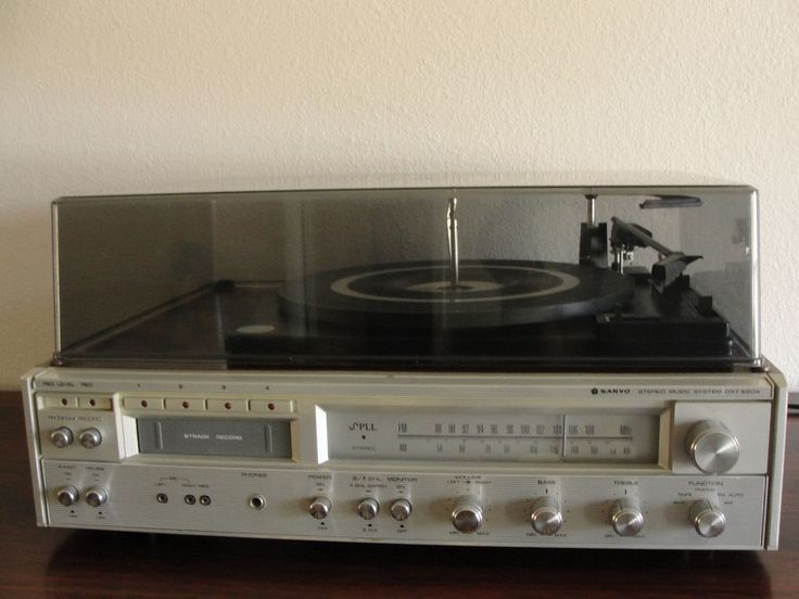 Vintage Sanyo Stereo System Dxt 5204 Am Fm Record Player 8