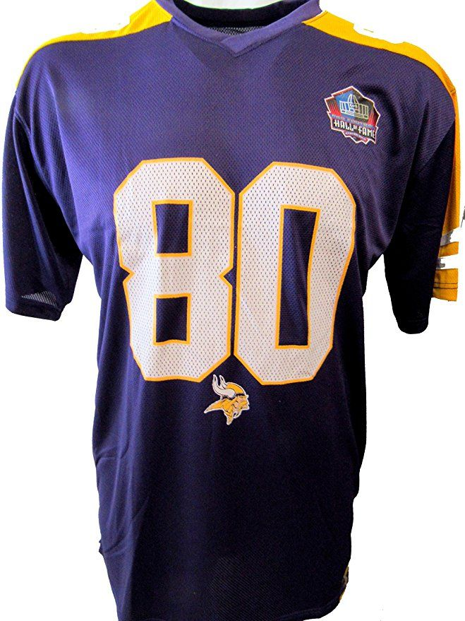 64d4f3e8e NFL Team Apparel Minnesota Vikings Mens 3XL Cris Carter  80 Hall of Fame  Football Jersey AVIK 101 3X