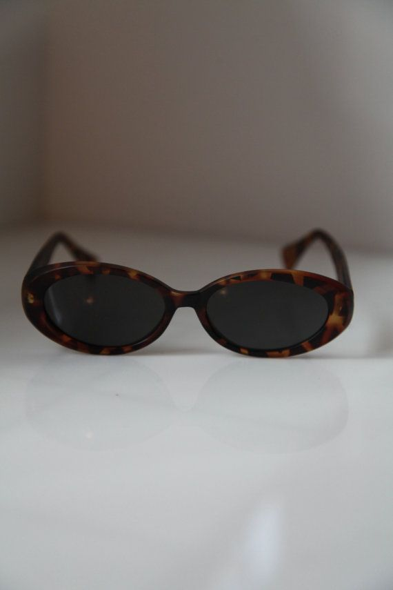 Vintage 90s  Brown Sunglasses Tortoise by LovelyVintageGlasses, $15.00