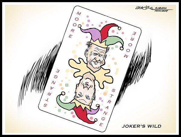 Cartoon by J.D. Crowe - Moore Strange Joker's Wild