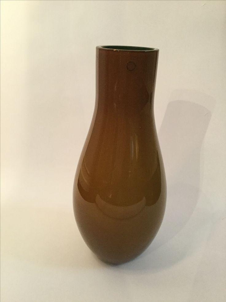 Murano vase green inside , late 1990s