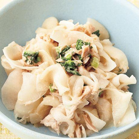 ツナと大根のポン酢サラダ | 瀬尾幸子さんのサラダの料理レシピ | プロの簡単料理レシピはレタスクラブニュース