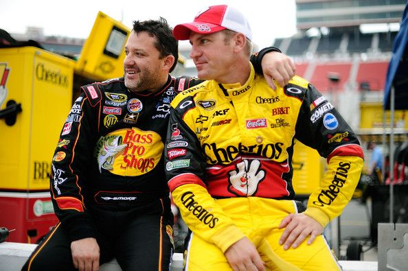 Tony Stewart and Clint Bowyer - Bristol Motor Speedway - Day 1