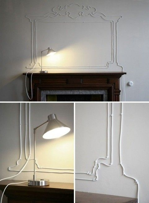 Cord Art......Genius!!! We should do something like this on your Angel wall.
