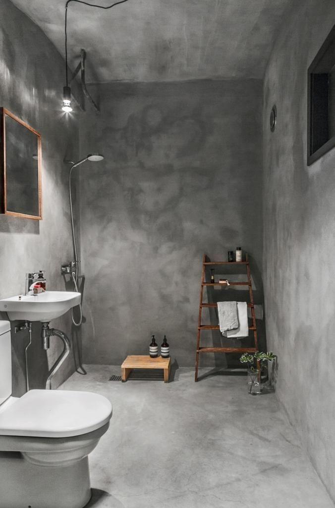 concrete bathroom via coco lapine design blog - Concrete Bathroom Decoration
