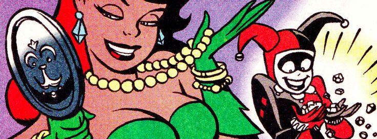 "comicbookvault: "" Batman Adventures Holiday Special #1 (Jan. 1995) By Ronnie Del Carmen "" DC Comics - Harley Quinn - Harleen Quinzel - Poison Ivy - Pamela Isley"