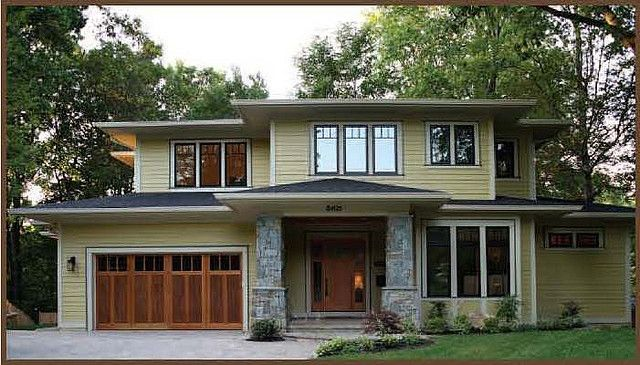 garage door on prairie style home for the home pinterest