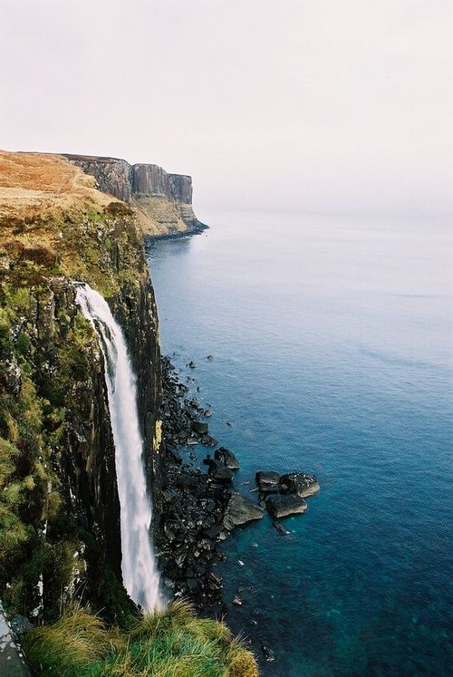 Kilt Rock Waterfall, Isle of Skye, Scotland:  Drop-Off, Skye Scotland, Cliff, Travel, Places, Rocks Waterfalls, Rock Waterfall, Kilts Rocks, Isle Of Skye