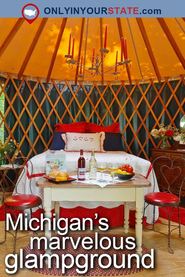 Travel   Michigan   USA   Outdoors   Glamping   Luxury Camping   Destinations   Attractions   Places To Visit   Adventure   Vacation   Glampground   Small Towns   Great Lakes   Resort   Road Trips   Forest   Yurts   Vineyards   Lake Michigan   Waterfront   Easy Hikes   Trails   Nature   Natural Beauty   Things To Do