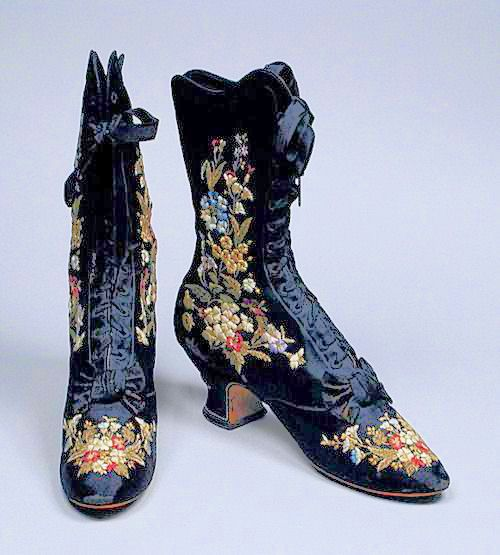Boots by F Pinet, ca 1885 France, LACMA