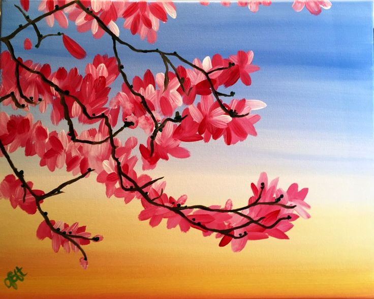 """June 2016 Featured Painting: """"Warm Magnolias"""" by Minneapolis artist Jeremy Bancroft."""