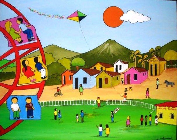 AGNALDO TEMA PARQUE DE DIVERSAO A VENDA COM AJUR SP - Pintura, 50x40 cm ©2010 por Arte Naif - Art naïf