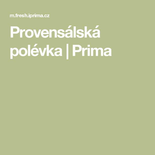 Provensálská polévka | Prima