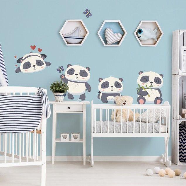 Perfect Wandtattoo Kinderzimmer S es Pandab ren Set