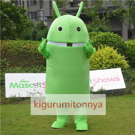 Android ロボット着ぐるみ ロボット着ぐるみ http://www.kigurumitonnya.jp/android-robot-mascot-adult-costume.html