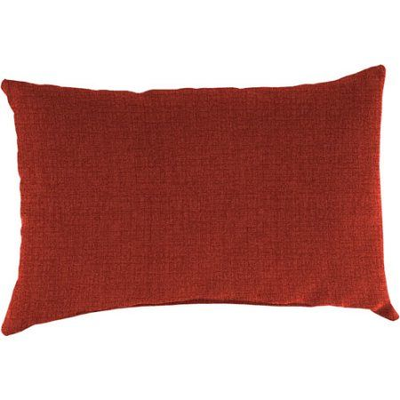 Free Shipping on orders over $35. Buy Jordan Manufacturing Indoor/Outdoor Patio Rectangular Toss Pillow, Husk Texture Brick at Walmart.com