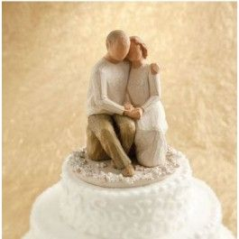 Here is a beautiful and elegant Willow Tree cake topper featuring an older couple. Great for an anniversary, special occasion, or even a later-in-life wedding! http://www.thatsmytopper.com/tender-couple-anniversary-topper.html