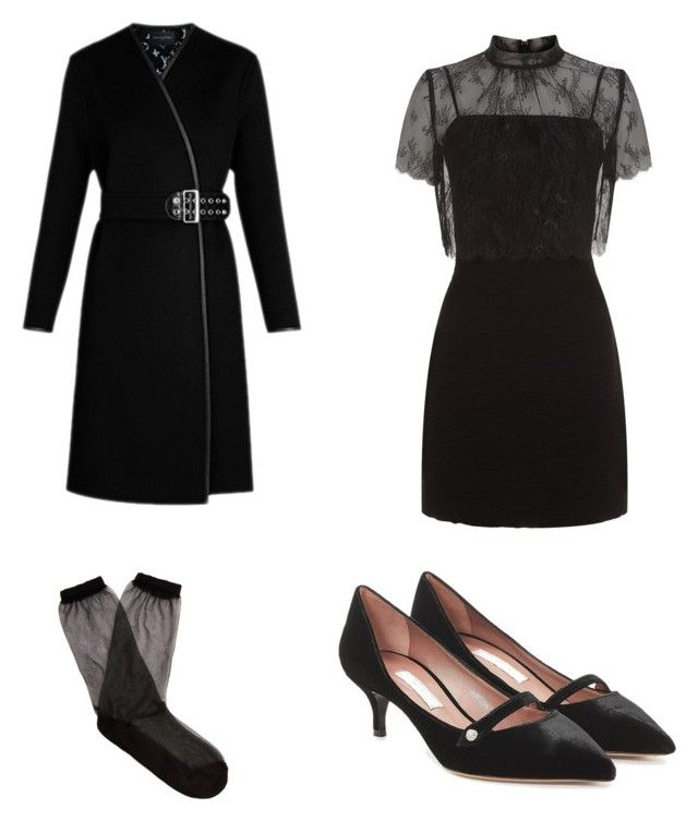 """Untitled #142"" by dariatamasan on Polyvore featuring Sandro, Tabitha Simmons and Raey"