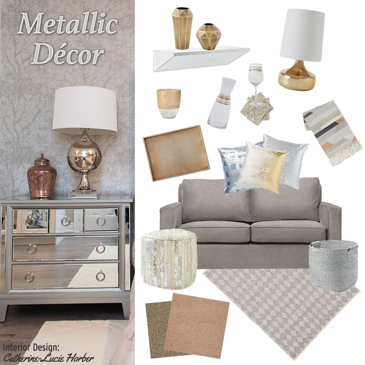 66 best COLOR: Metallic Home Decor images on Pinterest | Metallic ...