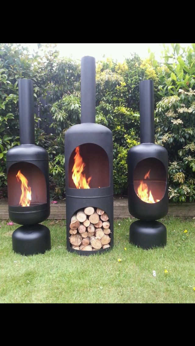 Outdoor fires chimney garden