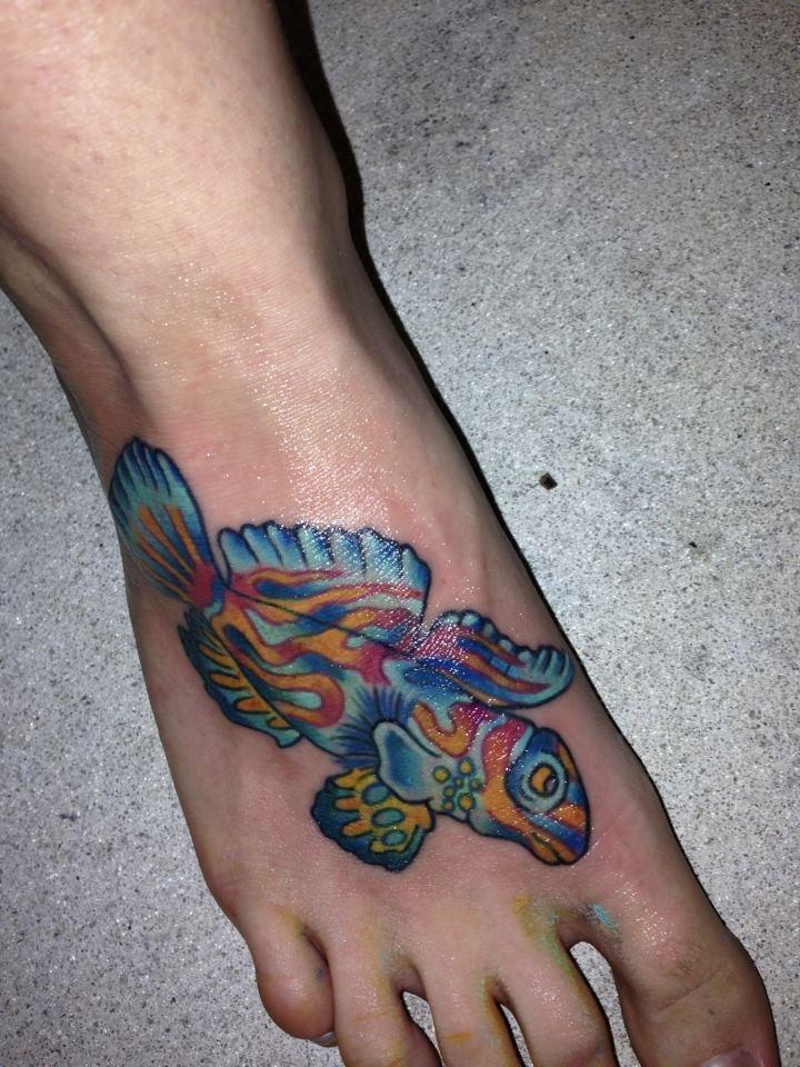 Love my mandarin fish tattoo tattoos pinterest for Saltwater fish tattoos